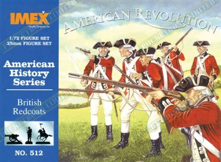 IMEX512 American History Series American Revolution British Redcoats 1:72 Scale